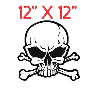 12-034-X-12-034-SKULL-amp-CROOSSBONES-DECAL-Car-Window-Bumper-Vinyl-Decal-Sticker