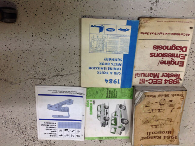 1984 Ford Ranger Bronco Ii Truck Service Shop Repair Manual Set Oem W Facts Bk