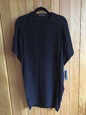 Cool and Casual Balenciaga Black Silk Dress, Sz 34