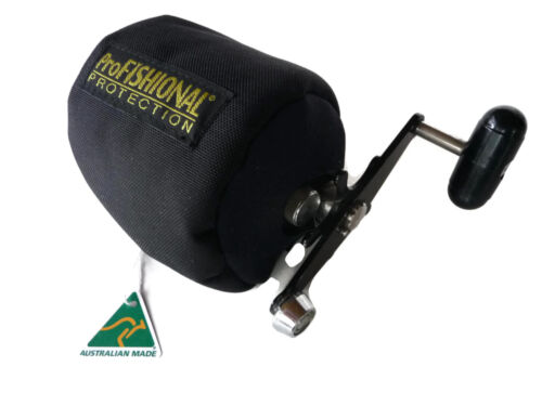 Overhead Fishing Reel Cover Medium Size Made in Australia padded