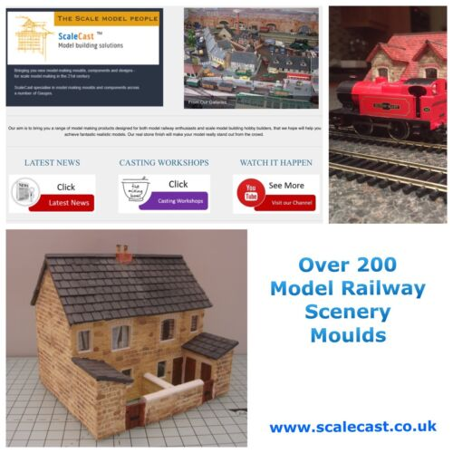 OO Gauge DT37 Model Railway STONE BUILDING ABUTMENTS Mould