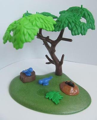 Playmobil Tree, mole and small blue birds NEW farm/zoo/forest scenery