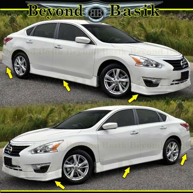 fits 2013-2015 nissan altima front rear bumper chin lip side skirts