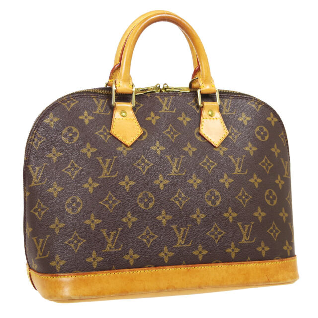 LOUIS VUITTON ALMA HAND BAG VI0929 PURSE MONOGRAM CANVAS M51130 VINTAGE 40183