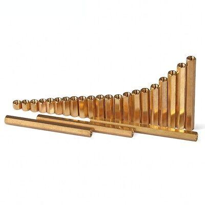 50Pcs Hex Brass Spacer Female-Female Double-pass Standoff Riser Pillars M3 M4