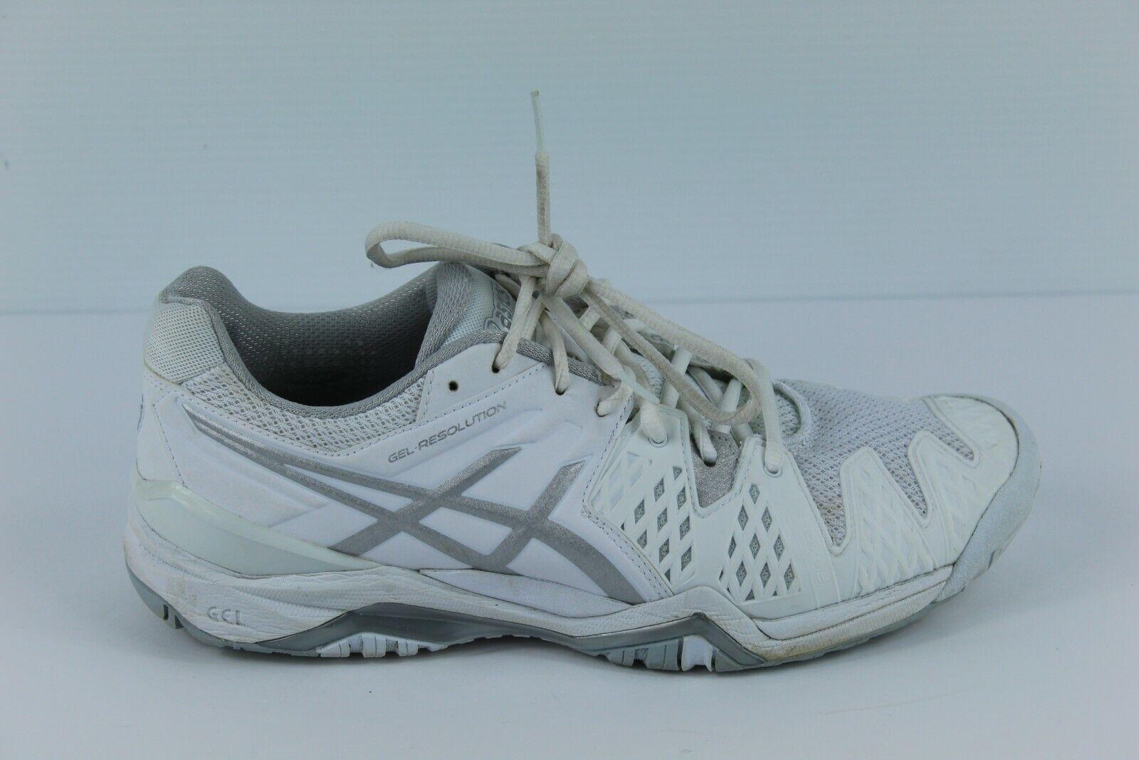 Asics Gel-Resolution 6-blanc-chaussures femme Taille 11 E550Y Euro 43.5 très bon état
