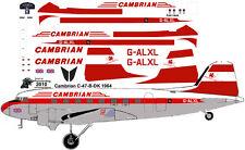 Cambrian Douglas C-47 DC-3 decals for Testors Italeri 1/72 scale