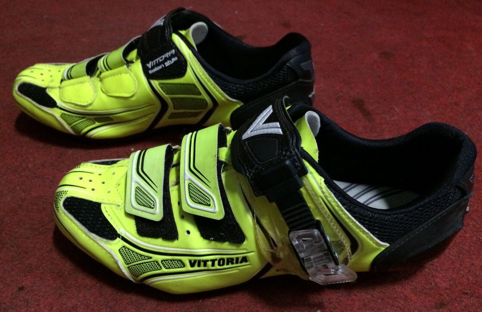 shoes bici corsa Vittoria Brave road bike shoes 41 yellow yellow fluo
