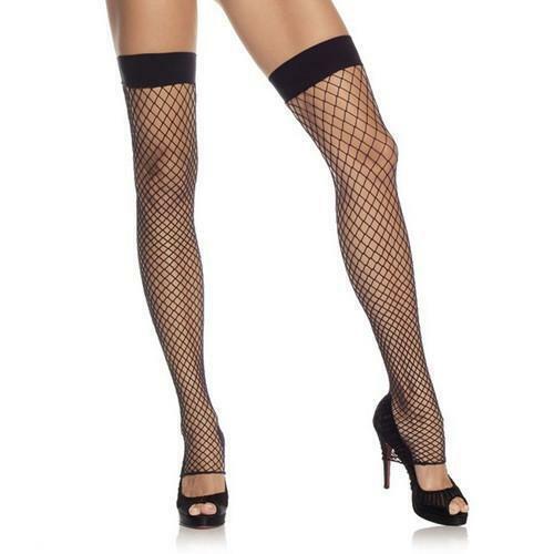 Leg Avenue Industrial Net Footless Thigh High Fishnet Hold Ups