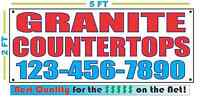 Granite Countertops W Custom Phone Banner Sign Larger Best Quality For The $