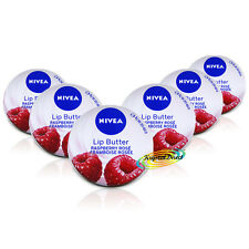 6x Nivea Raspberry Rose Moisturising Lip Butter Hydra IQ Dry Chapped Lip Care