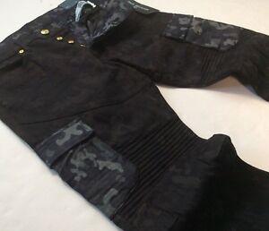 9eb4e8e6 True Religion Men Military Army Camo Moto Biker Rider Cargo Jeans ...