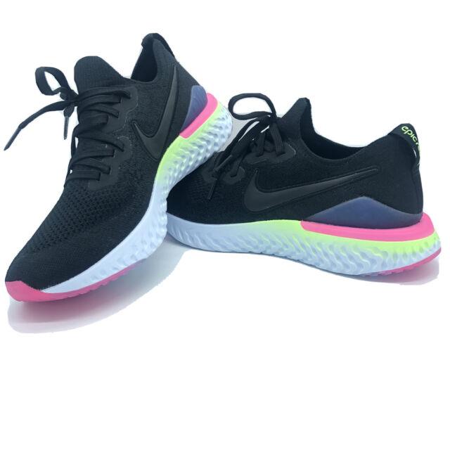 Nike Epic React Flyknit 2 BQ8928-003 Black White Sapphire Men's Running Shoes