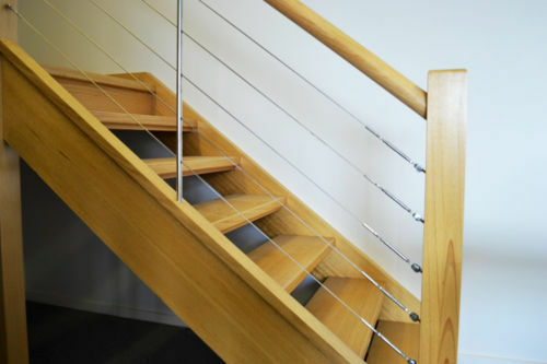 Balustrade wire kit decking Fork //Adjuster with eyes for wooden posts 1-10mtr