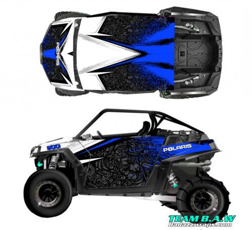 2010-2014 Polaris RZR 900 Design MXVEC 001 Graphic Kit Wraps UTV Hood Scoop