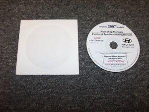 2007 hyundai entourage electrical wiring diagram shop service repair manual  dvd | ebay  ebay