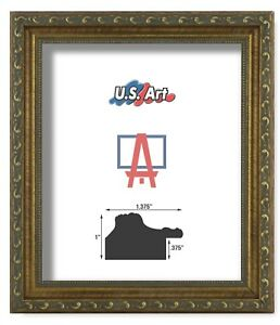 US-Art-Frames-1-37-034-Gold-Victorian-Ornate-Solid-Hard-Wood-Picture-Frame-S-B