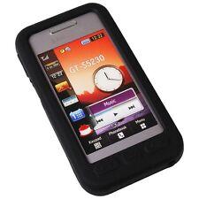 Silikon Case Tasche Handytasche f. Samsung S5230 black