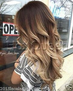 Image Is Loading Ombre Blonde Virgin Human Hair Wig Balayage Full