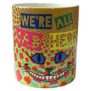 Modern-Alice-in-Wonderland-Mug-We-039-re-All-Mad-Here-Mug-Cheshire-Cat-Mug