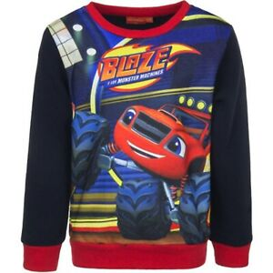 Sweatshirt-Blue-8Y-Boys-Long-Sleeve-Blaze-and-the-Monster-Machines-For-Kids