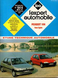 Rta Revue Technique L'expert Automobile N° 311 Peugeot 106 Essence Diesel