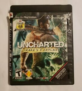 Uncharted-Drake-039-s-Fortune-PS3-PlayStation-3-2007-promotional-display-case