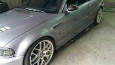 BMW E46 CARBON FIBER SIDE SKIRT EXTENSION SPLITTER LIP 2001-2006