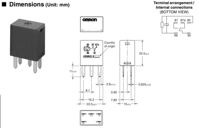 Omron 7866 12077866 Multifunction Relay 5 Pin Separately for sale online