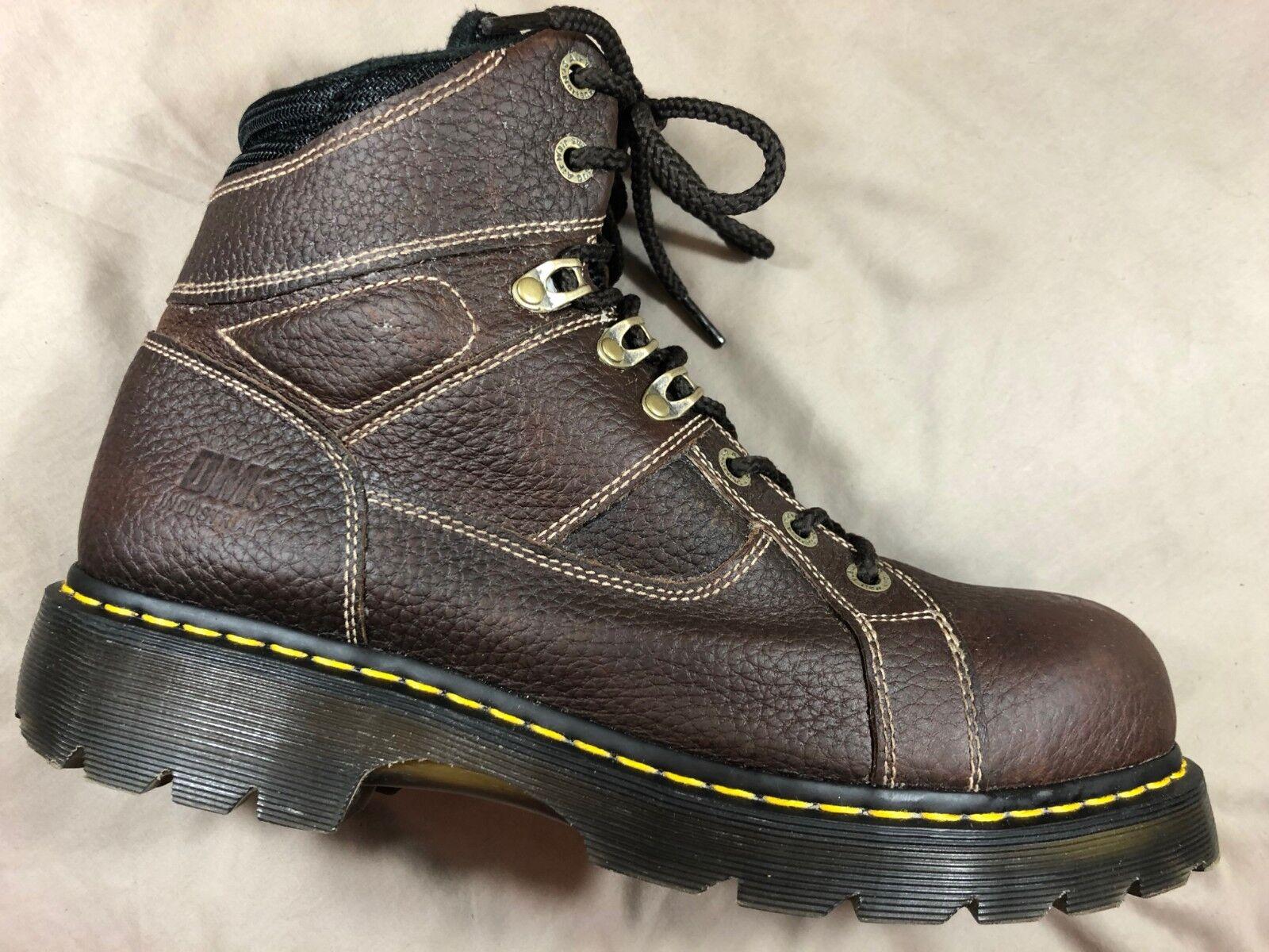 Dr. Martens Ironbridge Marronee Grain Leather Steel  Toe Lace Up Work stivali Men's 13  economico in alta qualità