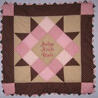Personalized Pink & Brown Baby Girl Quilt Kit With Pattern