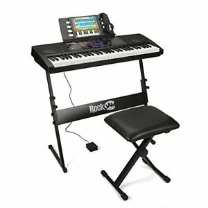 Details about RockJam RJ761-SK Key Electronic Interactive Teaching Piano  Keyboard with Stand,