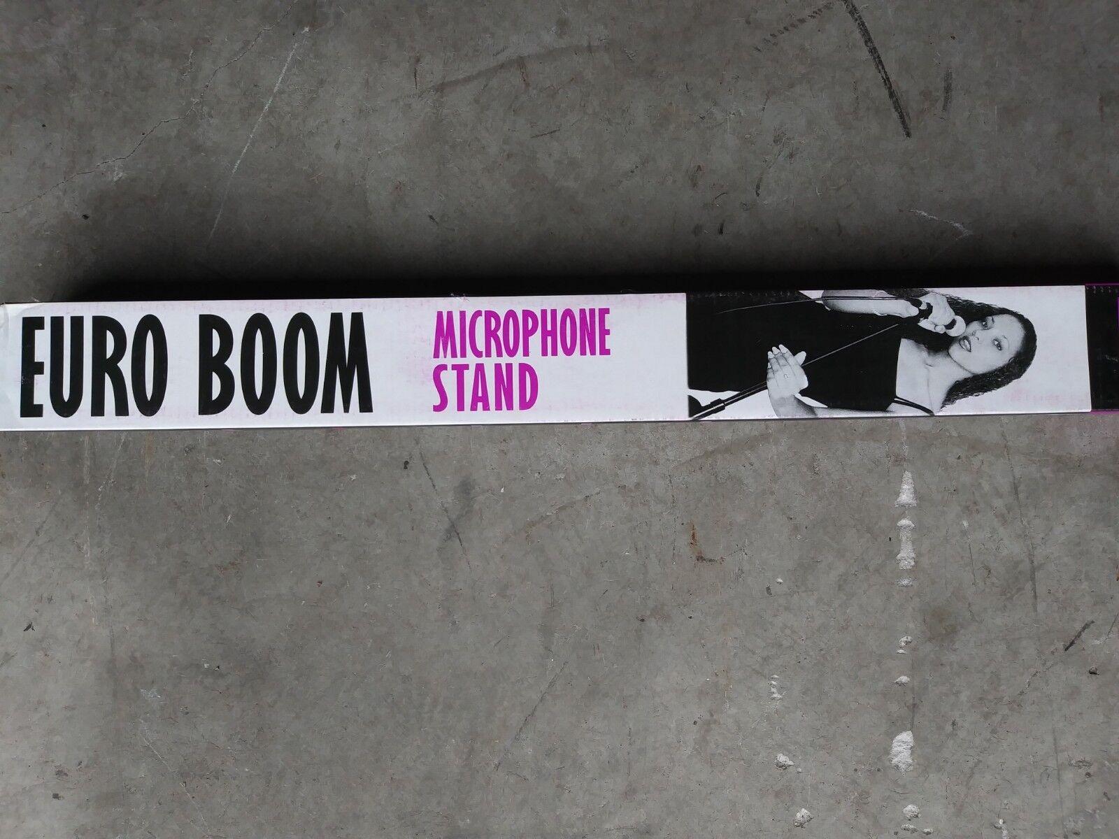 5x Microphone Boom Stand SINGLE Mic Clip Folding Arm Tripod Height Adjust
