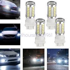 White 3157 3457 3057 Signal 33smd Backup Reverse Tail Turn Led Light Bulbs 4x
