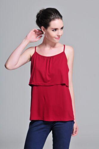 Breastfeeding top,Nursing top,maternity dress,8-18,Polyester,Spaghetti,t-shirt 9