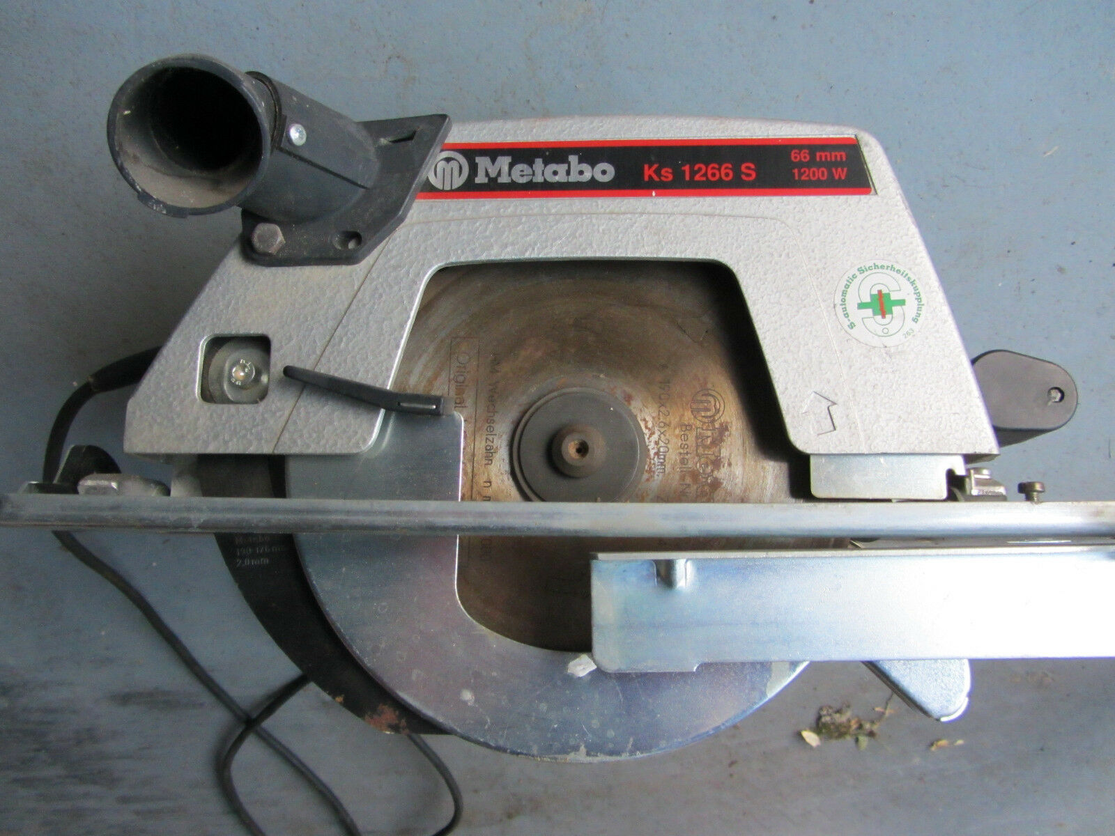 METABO Handkreissäge KS 1266 S gebraucht, funktionsfähig