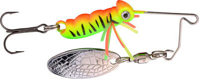 Micro Spinnerbait Larva 4cm 7g UV Fire Tiger mit Drilling von Spro