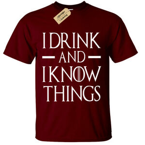 I-DRINK-AND-I-KNOW-THINGS-Mens-game-T-Shirt-S-5XL-BIG-funny-thrones-of-tyrion