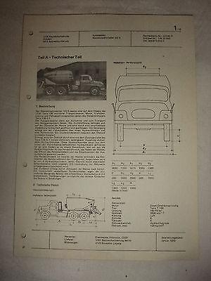 Reklame Baugewerbe Original Ddr Reklame Prospekt Datenblatt Wannenmischer Vd 5 Tatra 138 Cssr 1970 Hohe QualitäT Und Geringer Aufwand