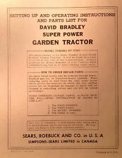 David Bradley Sears 91757571 Garden Tractor Amp Plow Owners Amp Parts 3 Manuals