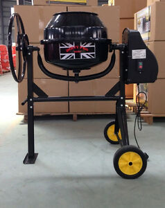 New Large Professional 140 Litres Concrete Cement Mixer With Stand /& Wheels 240v