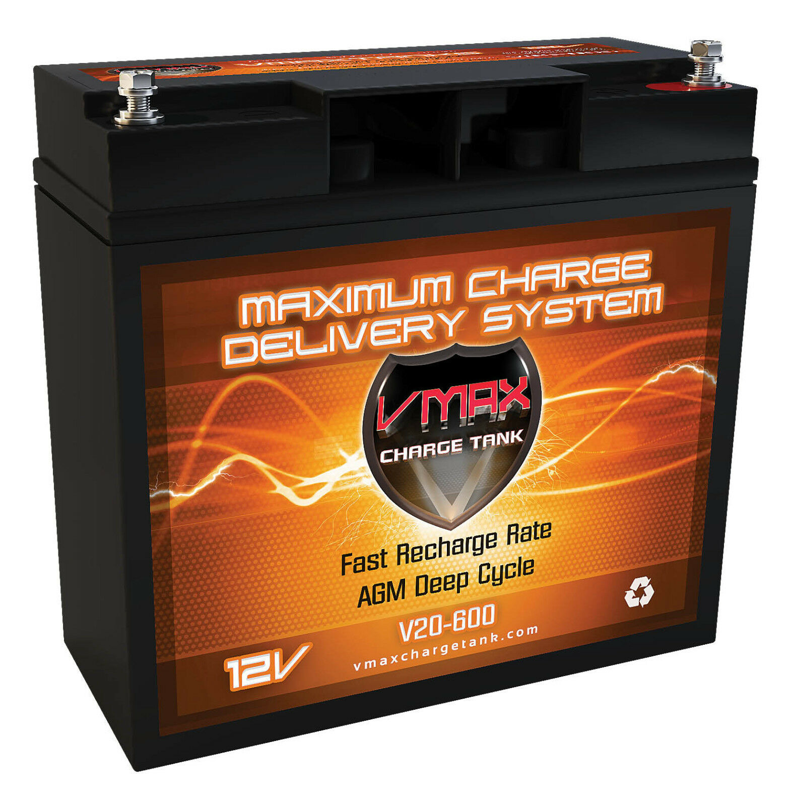 Arctic Cat snowmobile 20AH VMAX600 AGM Deep Cycle VMAX BATTERY
