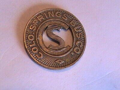 CO140F transit token Colorado Springs Bus Company Colorado