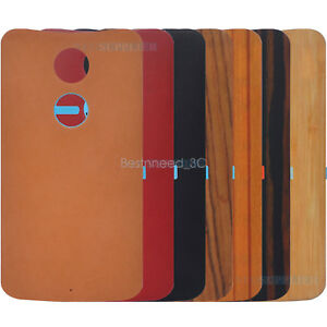 online retailer 56998 16b6c Details about Original Leather Bamboo Wood Battery Back Cover For Motorola  New Moto X / X+1