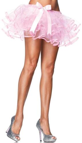 Layered Tulle Petticoat Satin Bow Pink Fancy Dress Halloween Costume Accessory