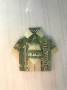T shirt with tie money origami | Money origami, Dollar origami, Dollar bill  origami | 300x225