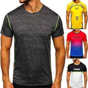 T-Shirt Tee Rundhals Kurzarm Print Aufdruck Training Motiv Herren Mix BOLF Sport