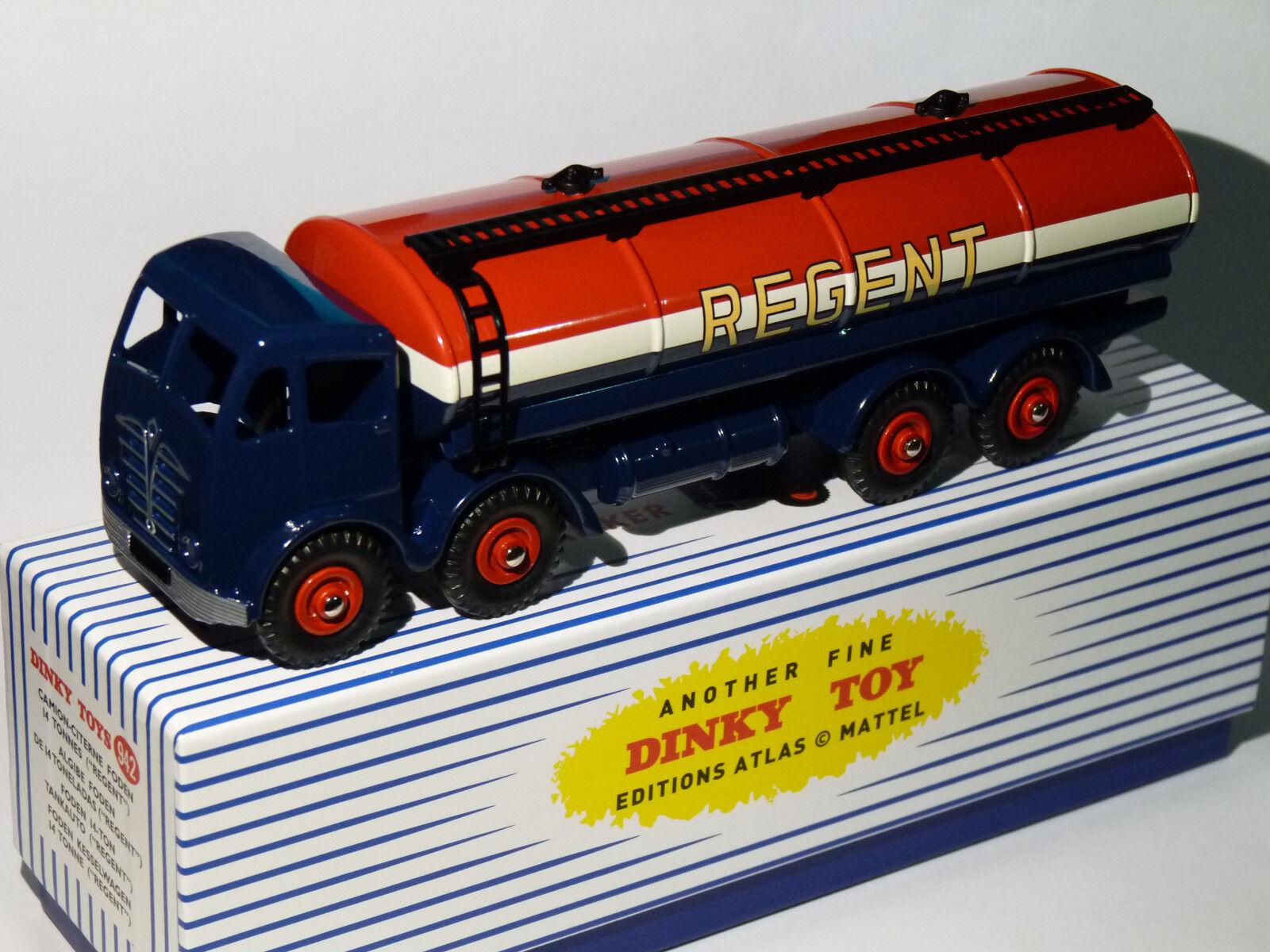 Truck Foden 8 Wheels 14 Ton Cistern Regent - Ref 942 Dinky Supertoys Atlas