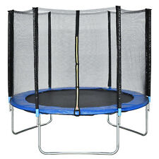 New 10 FT Trampoline Combo Bounce Jump Safety Enclosure Net W/Spring Pad