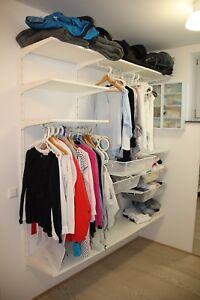 ikea kleiderschrank offen wei komplement gebraucht top zustand ankleidezimmer ebay. Black Bedroom Furniture Sets. Home Design Ideas